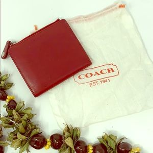 Rare! Vintage Red Leather Coach Wallet